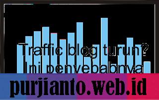 Traffic blog turun Ini penyebabnya
