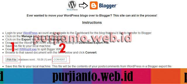 Cara Pindah Artikel Dari Wordpress ke Blogspot